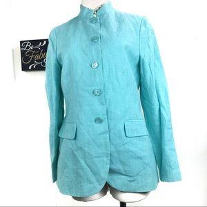 Vintage Harve Benard Blue Linen Blazer Jacket
